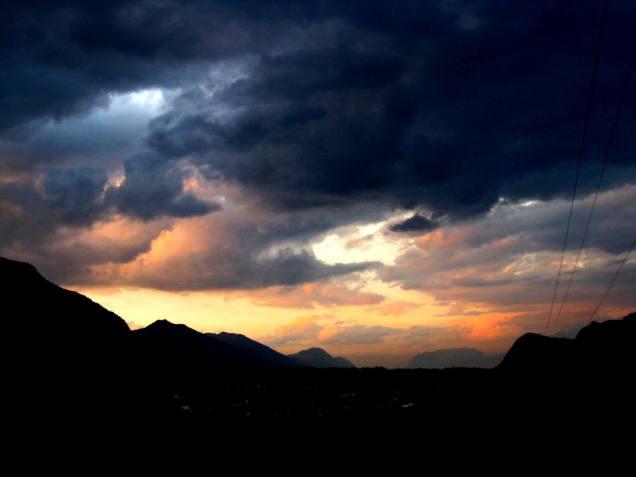 Sonnenuntergang im Osten
