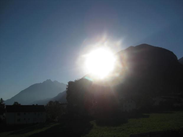 Sonne Berg
