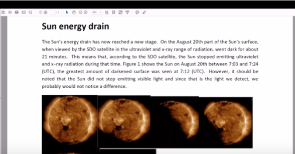Sun energy drain